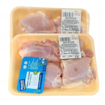 CHICKEN SKINLESS THIGHS PRE-PACK  PER LB