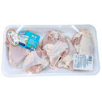CHICKEN FAMILY BON IN BREAST PREPACKED PER LB