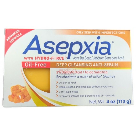ASEPXIA ACNE SOAP OIL-FREE BAR 4OZ