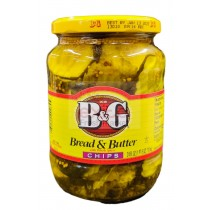 B&G BREAD & BUTTER WITH WHOLE SPICES CHIPS 24 FL OZ