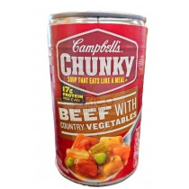 CAMPBELL'S CHUNKY SOUP, BEEF WITH COUNTRY VEGETABLES 18.8 OZ