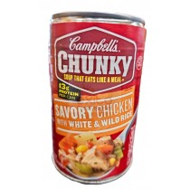 CAMPBELL'S CHUNKY SOUP, SAVORY CHICKEN WITH WHITE & WILD RICE 18.8 OZ