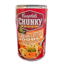 CAMPBELL'S CHUNKY SOUP, CLASSIC CHICKEN NOODLE WITH WHITE MEAT CHICKEN 18.8 OZ