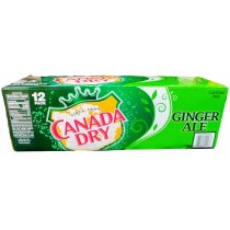 CANADA DRY GINGER ALE 12 PACK CAN SODA