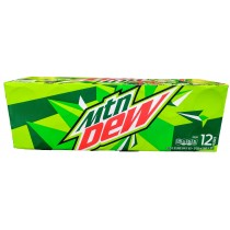 MOUNTAIN DEW 12 PACK CAN SODA