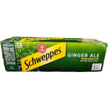 SCHWEPPES GINGER ALE 12 PACK CAN SODA
